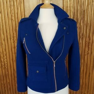 Faconnable Bright Blue Moto Jacket